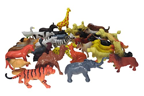 Animal Figures Set (90 Piece) Assorted- 30 Mini Jungle Animals & 30 Farm Animals & 30 pets, Hand Painted, Animal Toys – For Kids Great Party Favors, Bag Stuffers, Fun, Toy, Gift, Prize