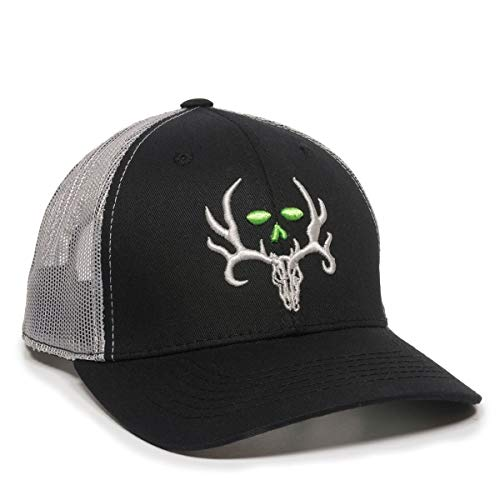 Outdoor Caps Bone Collector Adult Hunting Hat Black/LT Grey Cap