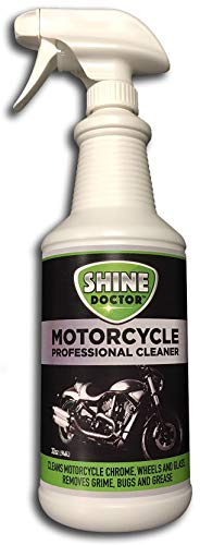 Shine Doctor Motorcycle Cleaner 32 oz. with UV Protection! Cleans Chrome, Wheels and Glass and Removes Grime, Bugs and Grease.