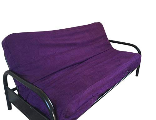OctoRose PURPLE COLOR Full Size Quality Bonded Micro Suede Futon Mattress Cover