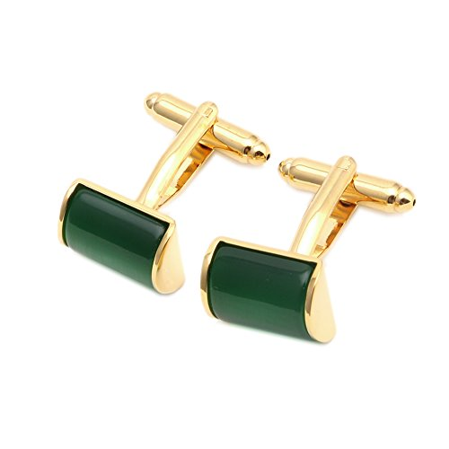 Zadaro Green Opal Stone mens dress shirts Cufflinks Elegant Style for Wedding Business Party 1Pair