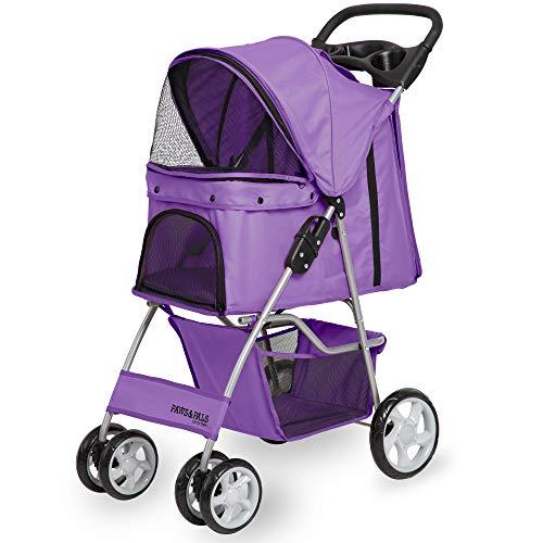 Purple cute dog strollers