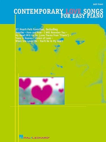 Download Contemporary Love Songs for Easy Piano (Easy Piano (Hal Leonard)) PDF