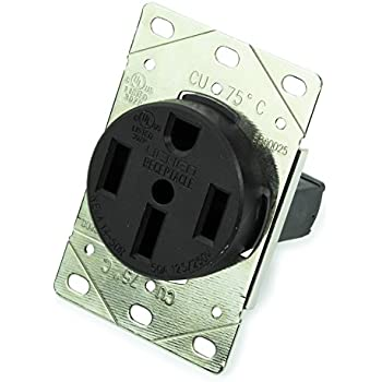 55050 125//250 Volt Nema 14 50R 3P 4W Surface Mounting Receptacle Side Gift New