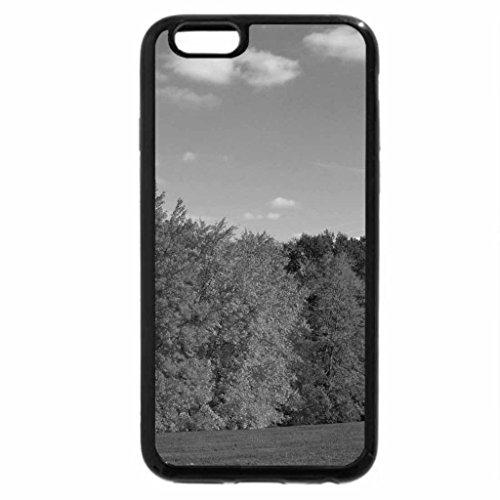 iPhone 6S Plus Case, iPhone 6 Plus Case (Black & White) - Autumn on the Hill