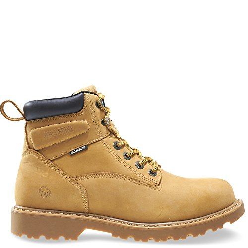Wolverine Men's Floorhand 6 Inch Waterproof Steel Toe-M Work Boot, Wheat, 11.5 3E US