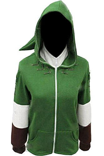 CosplaySky The Legend Of Zelda Hoodie Link Costume Zipper Coat Hyrule Jacket ()