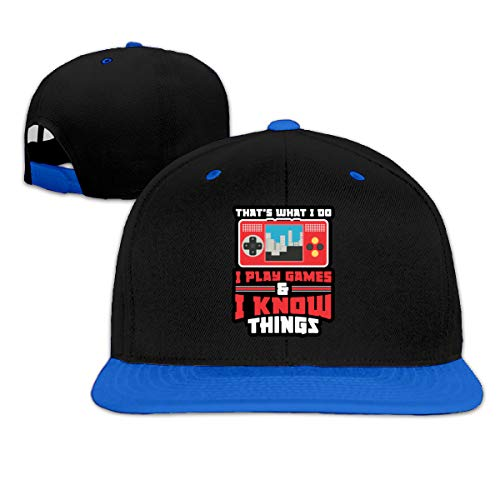 That's What I Do I Play Games and I Know Things Unisex Snapback Baseball Cap