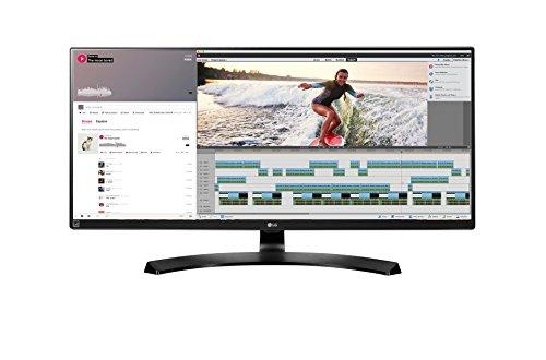 LG 34UM88-P 86,36 cm (34 Zoll) Computer-Monitor (HDMI, DisplayPort, Thunderbolt, USB 3.0, höhenverstellbarer ergonomischer Neigefuß, 5 ms Reaktionszeit, QHD Display Ultra Wide) Schwarz