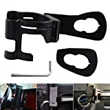 LadyRosian Multi-Function Drink Cup Holder Phone Mount Bracket for 2011-2018 Jeep Wrangler JK 2-Door and 4-Door & Unlimited