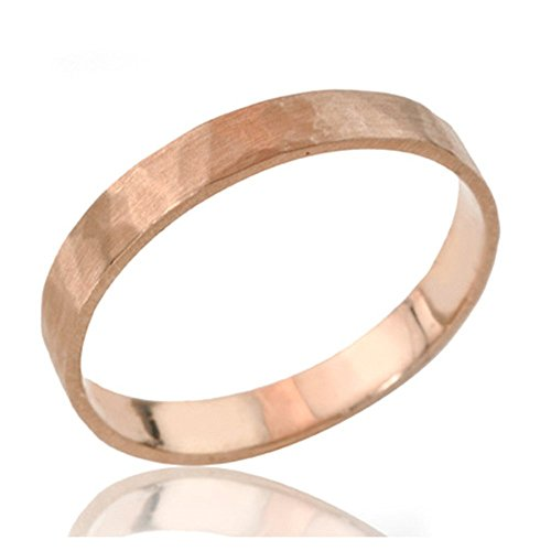 Handcrafted 14k or 18k Solid Gold Hammered Wedding Band, Unisex His and Hers Wedding Ring in Rose Gold White Gold or Yellow Gold