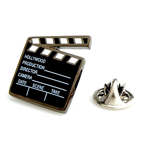 - Clapperboard Director Film Cast Gift Movie Lapel Pin Tack Tie