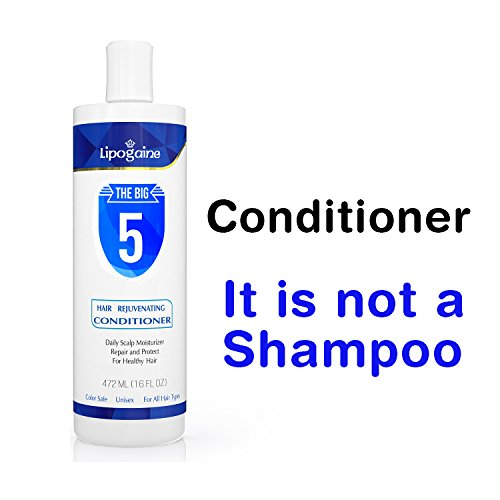 Lipogaine Hair Rejuvenating Conditioner With Argan Oil, Keratin, Aloe Vera, Vitamins