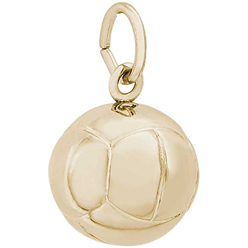 Rembrandt Charms Volleyball Charm, 14K Yellow Gold 14k Yellow Gold Volleyball Charm