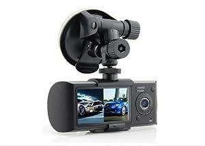 dual front rear camera dvr car vehicle dash dashboard gps data recorder 1 3m. Black Bedroom Furniture Sets. Home Design Ideas