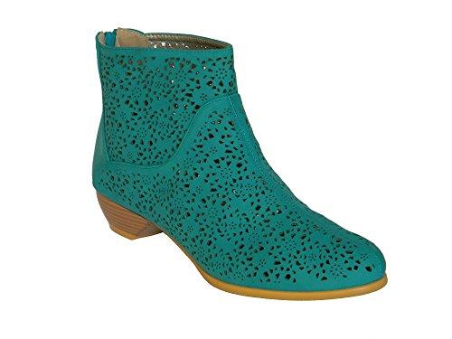 Makers Women Ankle Bootie Emerald Trendy Style (10, Emerald) (Fancy Dress Boots)