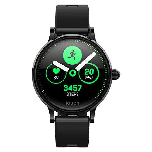 Smart Watch Fitness Tracker Bands for Women Men Kids with Heart Rate, Blood Pressure, Sleep Detection and Female Physiological Period Reminder (C, Silica Strap)