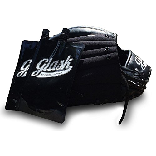 Black Regular Right Hand Throw - Glask 12 in Right Hand Throw Glove with Flask, Black
