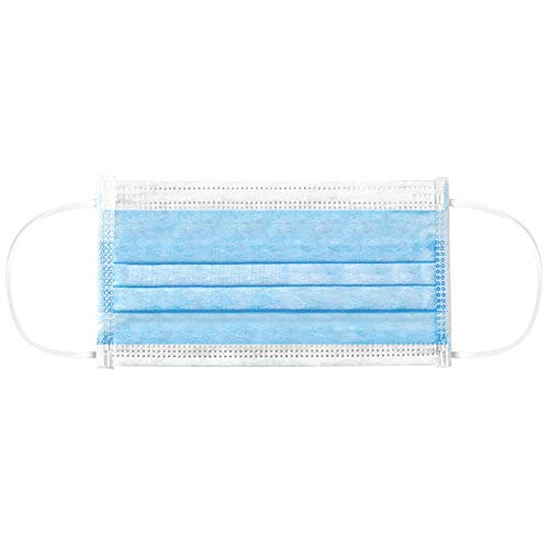 Walmeck- 50PCS Disposable Mask Non-Woven Masks 3-Layer Comfortable Sanitary Mask Anti-dust Mouth Face Mask Blue