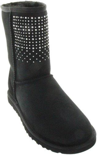Womens Australia Classic Short Ugg (UGG Classic Short Bling Women Boots Black 1003890 BLK (SIZE: 5))
