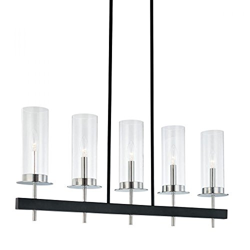Sonneman 4065-54 Five Light Bar, Black