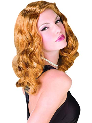 Womens Sexy Screen Siren Hollywood Starlette Brown Wig Costume Accessory (Wig Brown Siren)