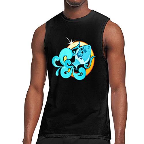 Men's Muscle Tank Top Softball Aquarius Gym Training-Tech Running Activewear ()