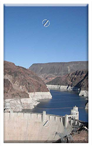 Nevada Boulder Dam - Single-Gang Blank Wall Plate Cover - Boulder Dam Las Vegas Nevada Hoover Dam Dam