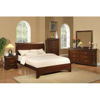 Alpine Furniture West Haven Sleigh Bed - Full Sleigh Bed