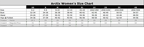Arctix Women's Insulated Snow Pant, Black, X-Large/Regular