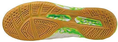 Mizuno Sala Classic In, Botas de Fútbol para Hombre White-Green gecko