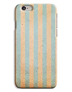 Grungy Blue and Green Stripes iPhone 6 Plus Hard Case Cover