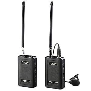 Wireless Lavalier Microphone ,Saramonic SR-WM4C 4-Channels Lapel Mic System for DSLR Camera Canon Nikon Sony Panasonic DV Camcorders Audio Recorder by Saramonic