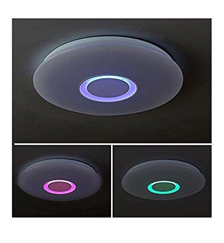 Aplicaci/ón m/óvil remoto moderno redondo l/ámpara pared l/ámpara techo plafones techo LEDs blanco neutro blanco fr/ío blanco c/álido con mando regulador de intensidad