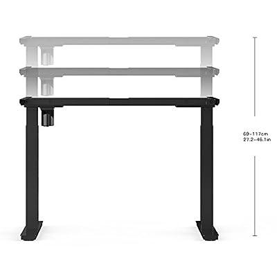 AdvanceUp Electric Stand Up Desk Frame Workstation, Frame and Table Top Bundle, Single Motor Ergonomic Standing Height Adjustable Base