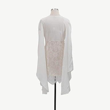 Sukienka dla druhny lub na wesele, koktajlowa, wieczorowa, z długim rękawem, dekolt w kształcie litery V, koronkowa, z okrągłym dekoltem, styl vintage.: Odzież