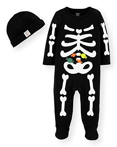 Just One You by Carters Halloween Baby Skeleton Sleep and Play with Hat Set (Newborn)