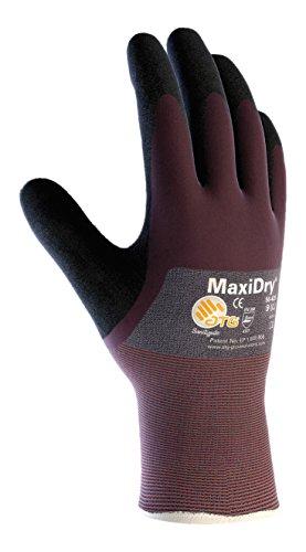 MaxiDry 56-425/XXL Ultra Lightweight Nitrile Glove, 3/4 Dipped with Seamless covid 19 (Seamless Knit Nylon Liner coronavirus)