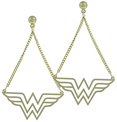Wonder Woman Gold Belt (Wonder Woman DC Comics Dangle Earrings Standard)