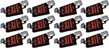 SupremeLED All LED Exit Sign & Emergency Light Combo with Battery Backup (Red Black 12 Pack)