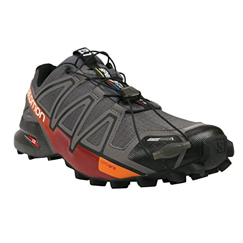 Salomon Speedcross 4 CS Trail Running Shoe - Men's Autobahn/Detroit/Orange Rust, US 12.5/UK 12.0