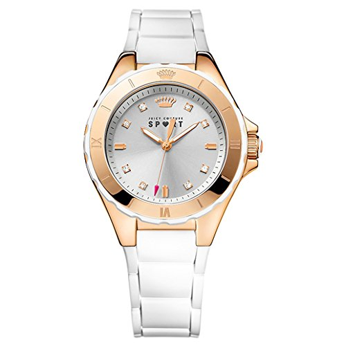 Juicy Couture Women's White RoseGold Silicone Strap Watch - 4