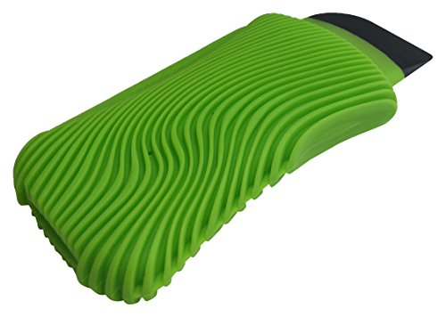 Silicone Wave (Fusionbrands WaveSponge Multi-Use, Bacteria & Odor Resistant Silicone Dish Cleaning Tool, Scrape, Squeegee & Scrub,  Green)