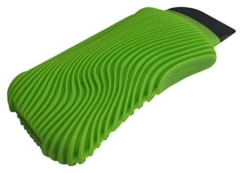 Fusionbrands WaveSponge Multi-Use, Bacteria & Odor Resistant Silicone Dish Cleaning Tool, Scrape, Squeegee & Scrub,  Green (Sponge Wave Scrub)
