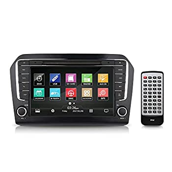 Image of 2013 VW Jetta Console Radio Stereo Receiver System, GPS Navigation, 8'' HD Touchscreen Display, Bluetooth Wireless, CD/DVD Player, AM/FM Radio, Double DIN (PVWJETTA13) Car Stereo Receivers