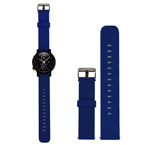 Odeer for Samsung Galaxy Gear S2 Classic SM-R732 Luxury Silicone Watch Band Strap width 20mm (Blue)
