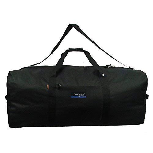 Heavy Duty Cargo Duffel Jumbo Gear Bag Big Drum Set Equipment Hardware Bags Large Square Sport Duffel Oversized Travel Bag Huge Rack Bag (24(L)x12(H)x12(W) inch, Black)