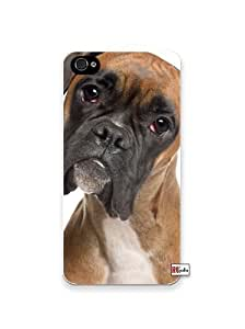 Adorable Sad Boxer Dog Apple Iphone 4 Quality TPU Soft Case for Iphone 4/4s - AT&T Sprint Verizon - White Case