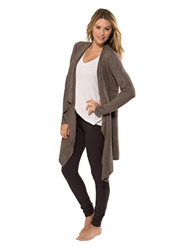 Barefoot Dreams Women's BambooChic Lite Calypso Wrap (Cocoa, Large / X-Large) by Barefoot Dreams
