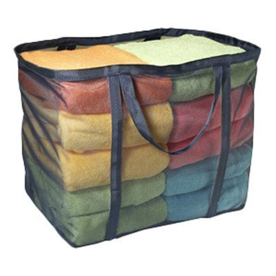 """UPC 644766088751, Laundry Micro Mesh Tote Bag Color: Navy (19""""x12""""x16"""") (6-Pack)"""